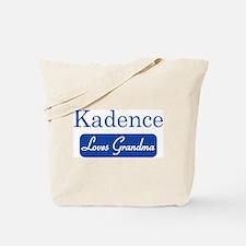 Kadence loves grandma Tote Bag