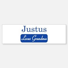 Justus loves grandma Bumper Bumper Bumper Sticker