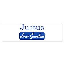 Justus loves grandma Bumper Bumper Sticker