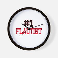 Number 1 FLAUTIST Wall Clock