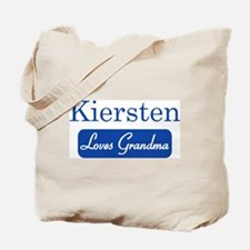 Kiersten loves grandma Tote Bag
