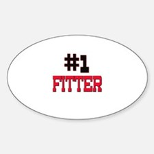 Number 1 FITTER Oval Decal
