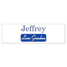Jeffrey loves grandma Bumper Bumper Sticker