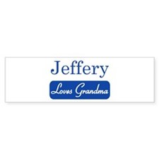 Jeffery loves grandma Bumper Bumper Sticker