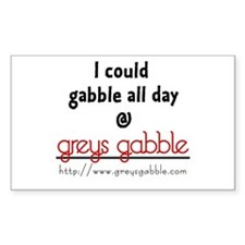 Gabble Rectangle Decal
