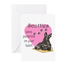 Scottie Pawprints Greeting Cards (Pk of 10)