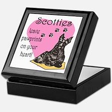 Scottie Pawprints Keepsake Box
