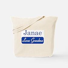 Janae loves grandma Tote Bag