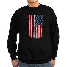 Distressed USA FLAG: Sweatshirt