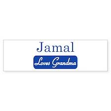 Jamal loves grandma Bumper Bumper Sticker