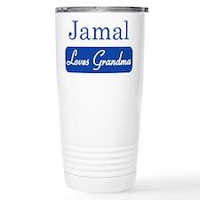 Jamal loves grandma Travel Mug