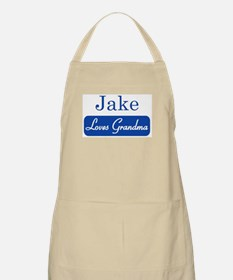 Jake loves grandma BBQ Apron