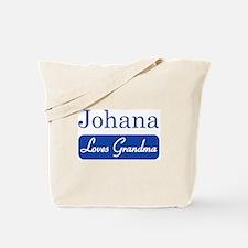 Johana loves grandma Tote Bag