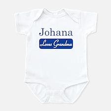 Johana loves grandma Infant Bodysuit