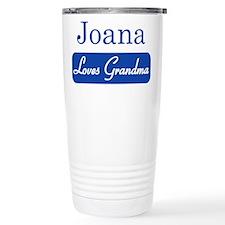 Joana loves grandma Travel Coffee Mug