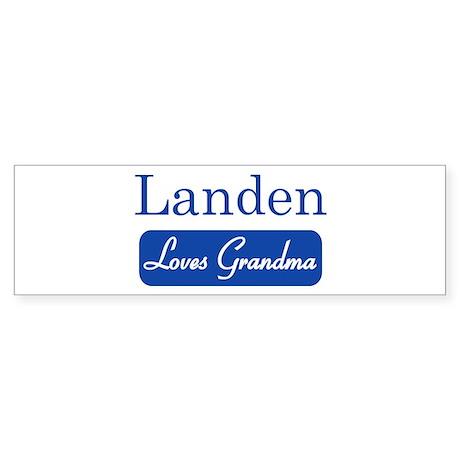 Landen loves grandma Bumper Sticker