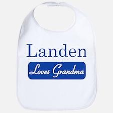 Landen loves grandma Bib