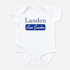 Landen loves grandma Infant Bodysuit