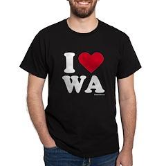 I Love Washington (WA) - Black T-Shirt