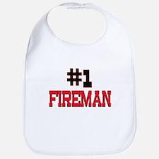 Number 1 FIREMAN Bib