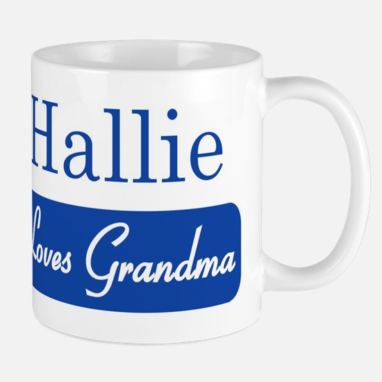 Hallie loves grandma Mug