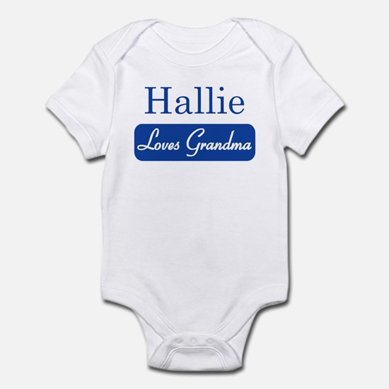 Hallie loves grandma Infant Bodysuit
