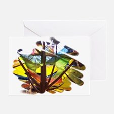 TREE OF COLORS Greeting Card