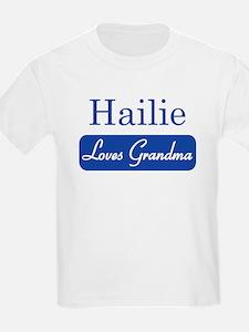 Hailie loves grandma T-Shirt