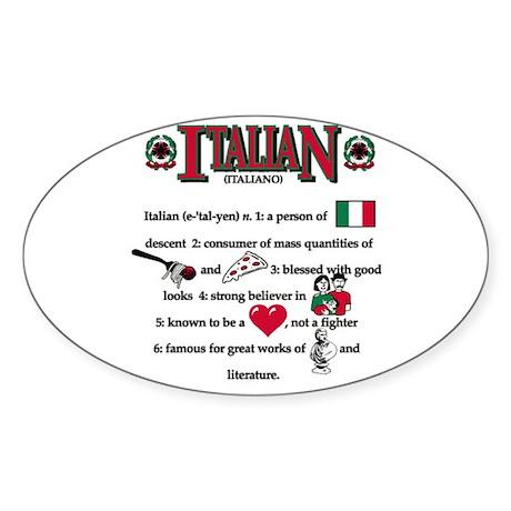 Italian Oval Sticker