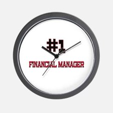 Number 1 FINANCIAL MANAGER Wall Clock