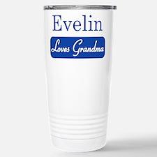 Evelin loves grandma Stainless Steel Travel Mug