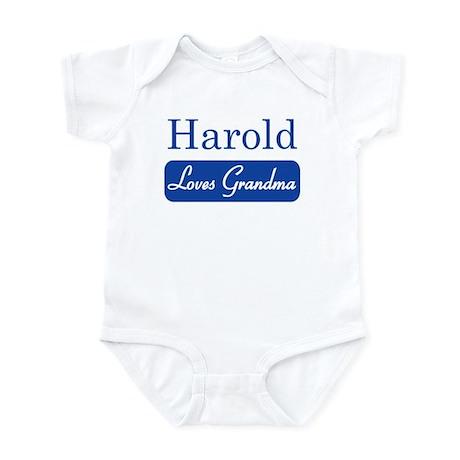 Harold loves grandma Infant Bodysuit