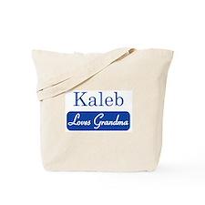 Kaleb loves grandma Tote Bag