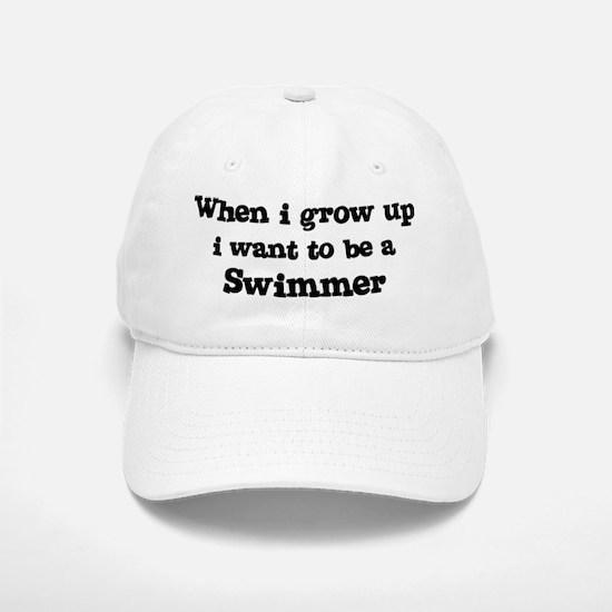 Be A Swimmer Baseball Baseball Cap