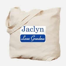 Jaclyn loves grandma Tote Bag