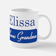 Elissa loves grandma Mug