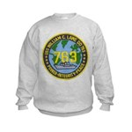 USS WILLIAM C. LAWE Kids Sweatshirt