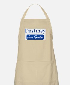 Destiney loves grandma BBQ Apron