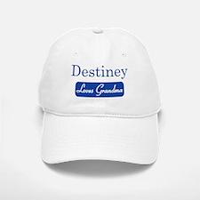 Destiney loves grandma Baseball Baseball Cap