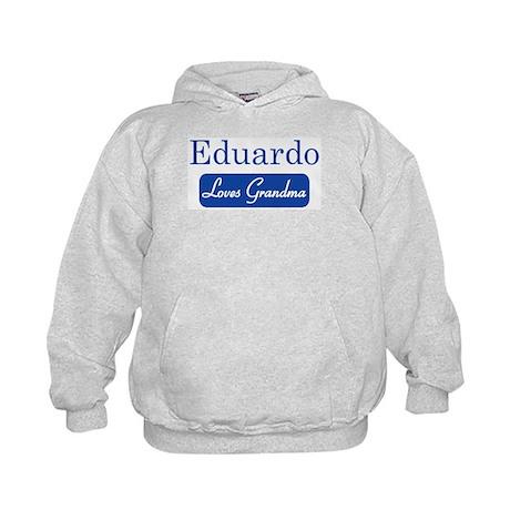 Eduardo loves grandma Kids Hoodie