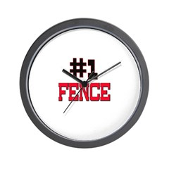 Number 1 FENCE Wall Clock