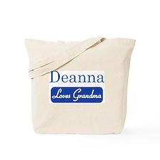 Deanna loves grandma Tote Bag