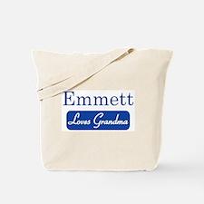 Emmett loves grandma Tote Bag
