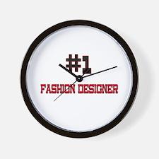 Number 1 FASHION DESIGNER Wall Clock