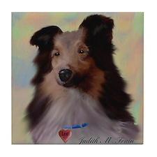 Sheltie Dog Tile Coaster
