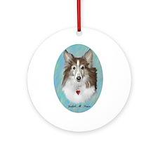 Sheltie Dog Ornament (Round)