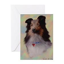Sheltie Dog Greeting Card