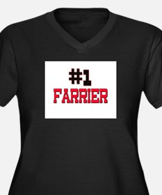 Number 1 FARRIER Women's Plus Size V-Neck Dark T-S