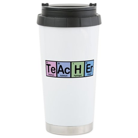 Teacher made of elements stainless steel travel mu by for Stainless steel elements
