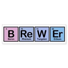 Brewer made of Elements Bumper Bumper Sticker